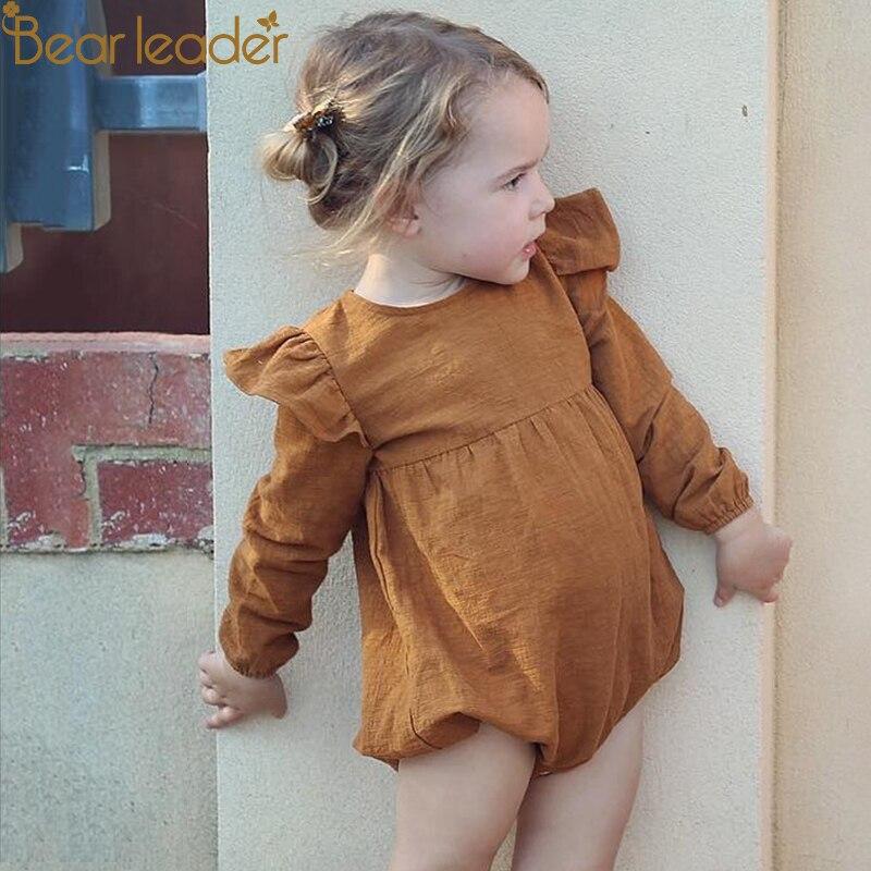 Bär Führer Baby Kleidung Langarm Body Infant Overall Bodysuit Sommer Kleidung Solide Unisex Baby Bodys 2 Farben