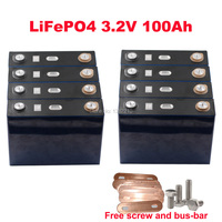 8PCS/lot LiFePO4 3.2V 100Ah Continuous Discharge 3C 300A For Solar Energy Storage System 24V Battery Pack
