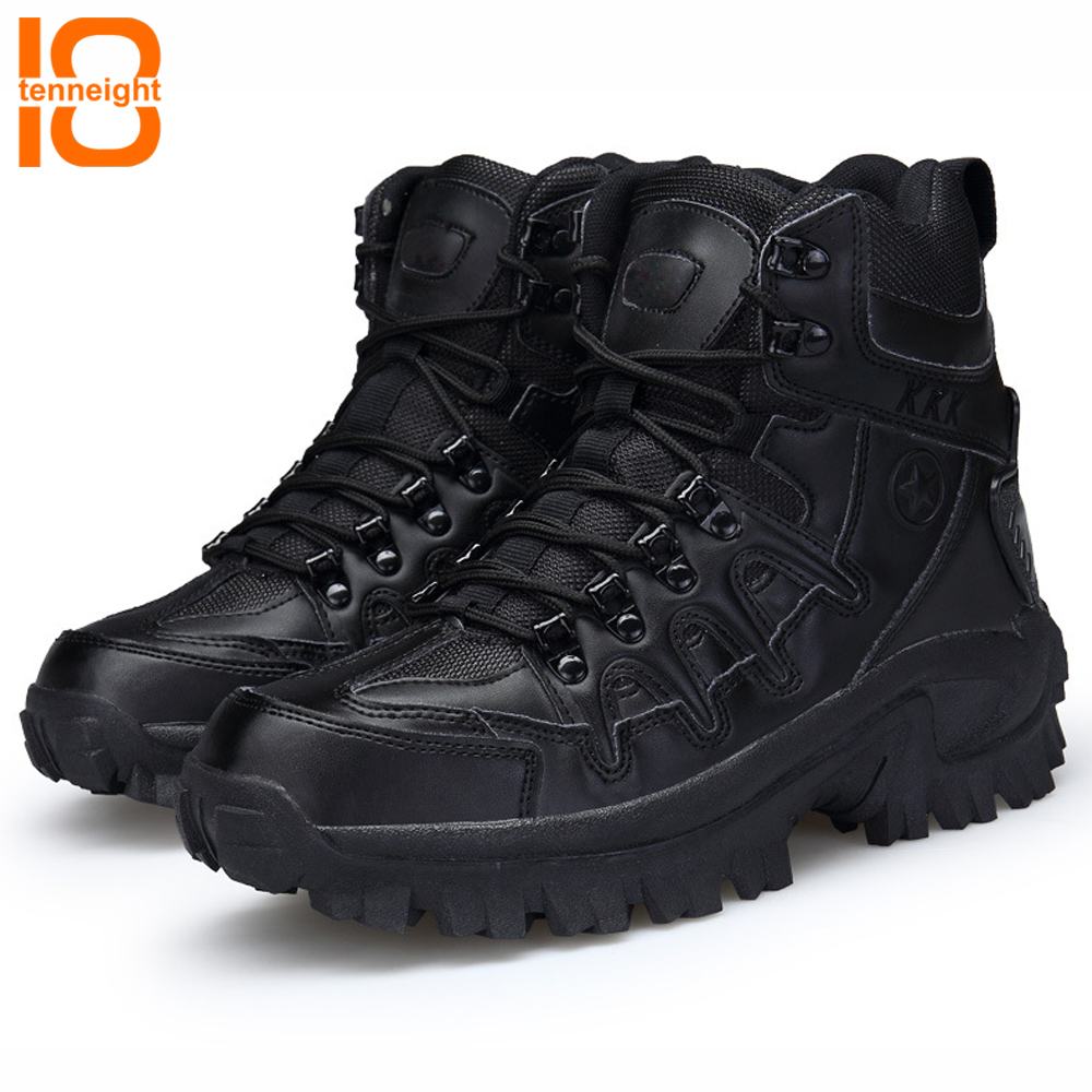 TENNEIGHT Professional Hiking Boot Waterproof Breathable military Desert boots men delta tactical combat boots Camping Sneakers