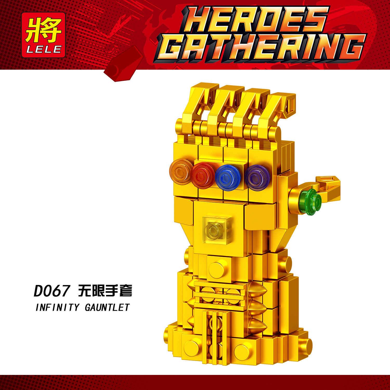 Legoing Marvel Super Héroes vengadores 4 Endgame Iron Man Infinity guantes mecánicos Thanos Infinite guante bloque juguete Legoings D067