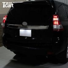 Tcart автомобиля светодиодный Реверсивный луковицы Canbus T15 авто светодиодный Обратный лампы задней обратно Light для Toyota land cruiser Prado 150 2014 2017
