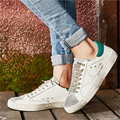Casual Men Shoes New Brand Designer 2017 Italy Golden Genuine Leather Goose Male Sport Shoes Chaussure Femme Superstar Shoes