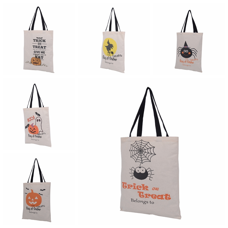 500pcslot free shipping halloween gift bags kids candy bags 6 styles halloween sack for children wholesale canvas bags - Halloween Gifts Kids