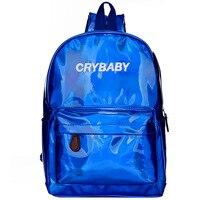 Yesello Silver Hologram Laser Backpack Girl School Backpacks For Teenage Girls Gifts