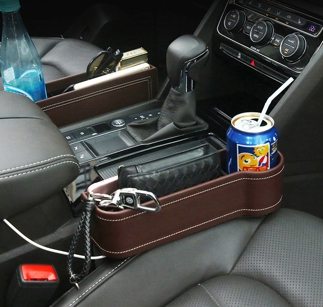 YIJINSHENG Car Seat Back Gap Filler Pocket Leather Organizer Storage Bag Hot And Catcher