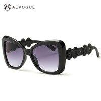 AEVOGUE Sunglasses Women Cool Sun Glasses Summer Style Flower Decoration Temple Famous Lady Brand Designer UV400