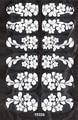 DIY Ultrafinos Transparente Unhas Franceses Adesivos Projeto Do Laço Adesivo Decalques Da Arte Do Prego Adesivos Flores Brancas Decoração de Unhas Wraps