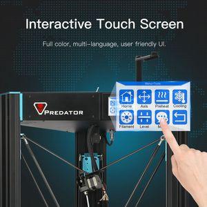Image 5 - ANYCUBIC 3D Impresora depredador grande de talla grande de Metal completo TFT pantalla 3d Impresora de alta precisión 3D Drucker Impresora 370*370*455mm