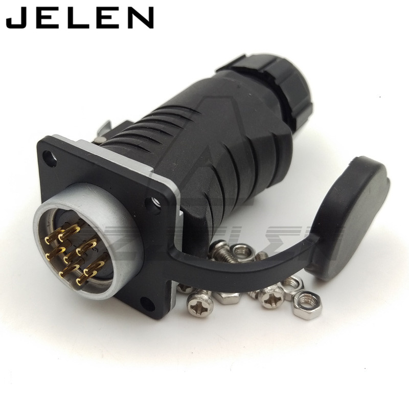 XHE20, IP67 Waterproof Connector 8pin Plug (Female) & Socket (Male), Power Cable Connector, Automotive Connectors xhe20 ip67 4pin waterproof connectors 4 pins power cable connector male and female automotive connectors plug and socket