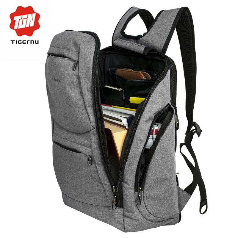 ФОТО 2017 Tigernu Brand fashion men backpack  for teenage girls school backpack women bag Splashproof  14inch laptop backpack bag