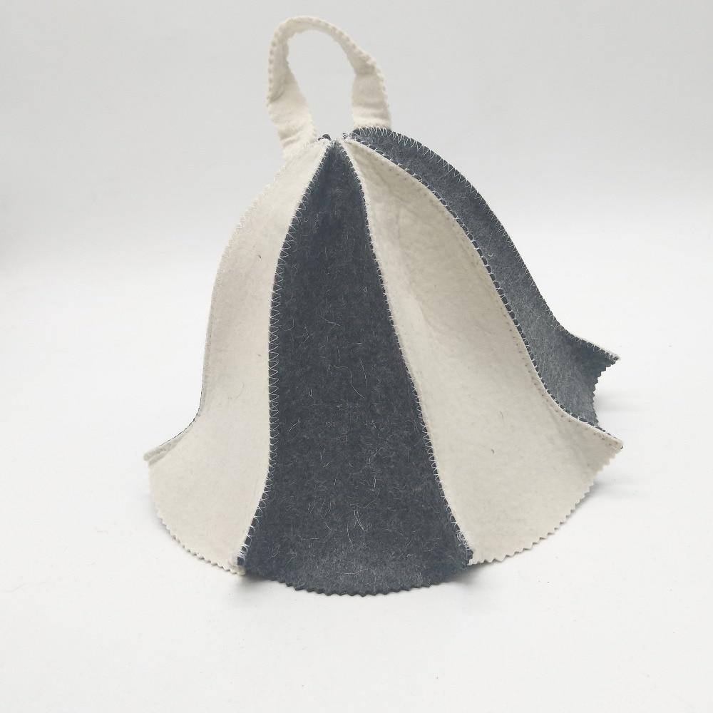 7e82048da8271 Sauna Hat Russian Banya Cap 100% Wool Felt Modern Lightweight Head ...