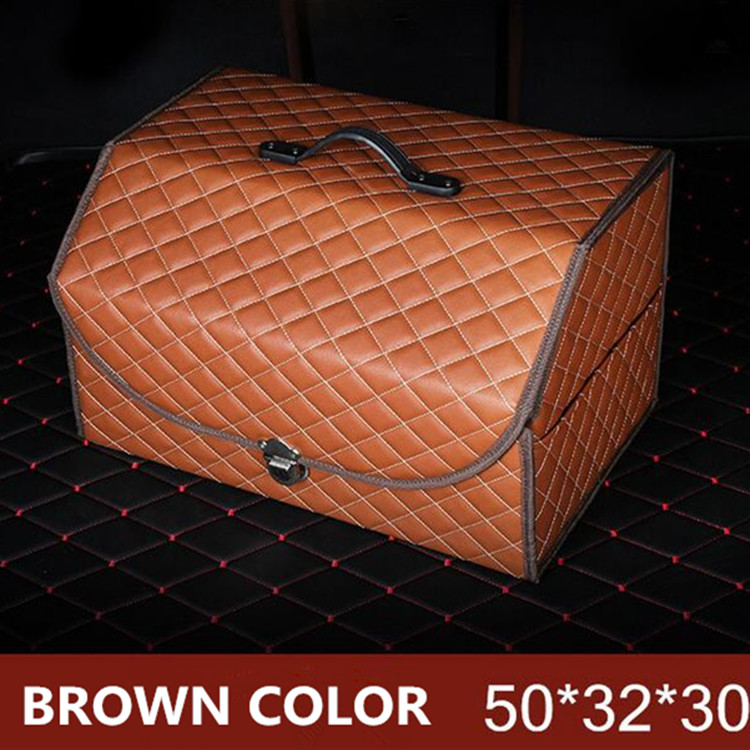 HIGH GRADE LEATHER STORAGE BOX CAR TRUNK COLEECTION BAGMULTIFUNCTION STOWING TITYING CS0101-in Stowing Tidying from Automobiles u0026 Motorcycles on ... & HIGH GRADE LEATHER STORAGE BOX CAR TRUNK COLEECTION BAG ...