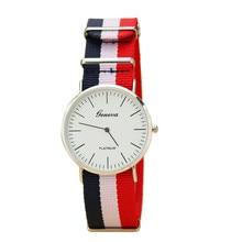 Простой Тонкий Stripes Мужчины Женщины Часы Аналоговые Кварцевые Часы Vogue Наручные Часы оптом