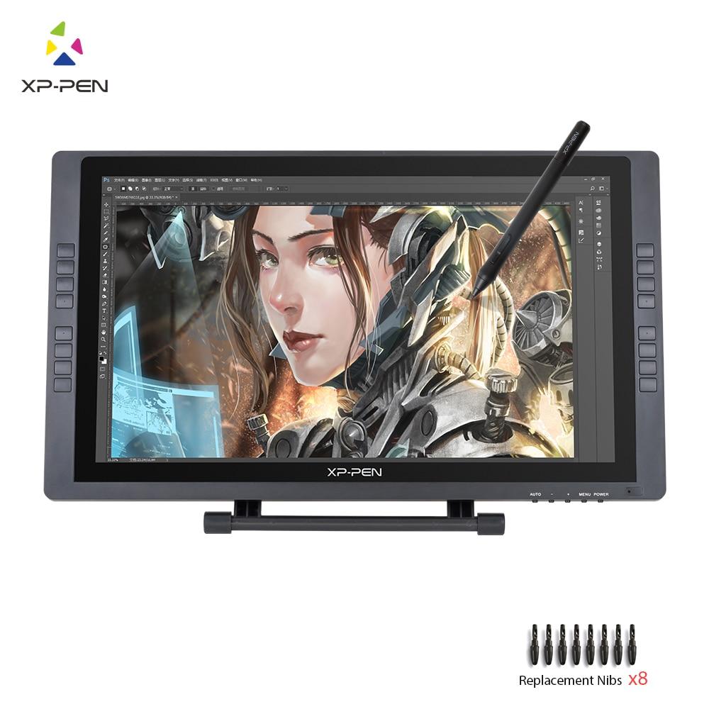 XP-Рen Artist22E FHD IPS Цифровой Графика графический Монитор Перьевой Дисплей Монитор с Сочетания клавиш и Регулируемой Подставкой
