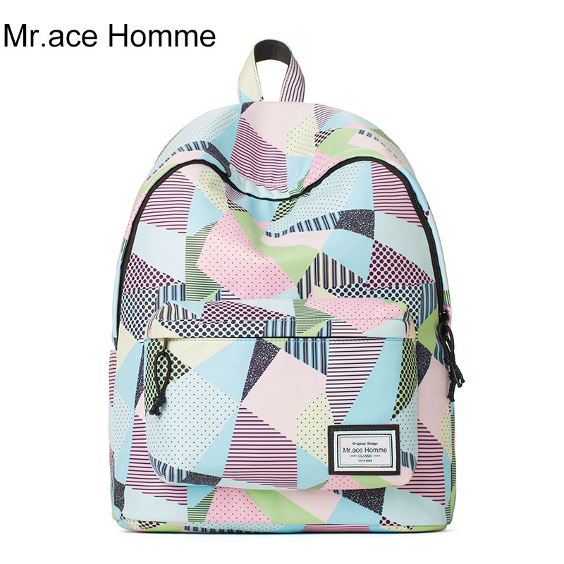 Comfortable and soft backpack for girls ladies cartoon printing school bags 2017 brand mochila college travel