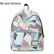 Удобные и мягкие рюкзак для девочек женские мультфильм печать школьные сумки 2017 Марка Mochila колледж Путешествия Рюкзак Для Ноутбука