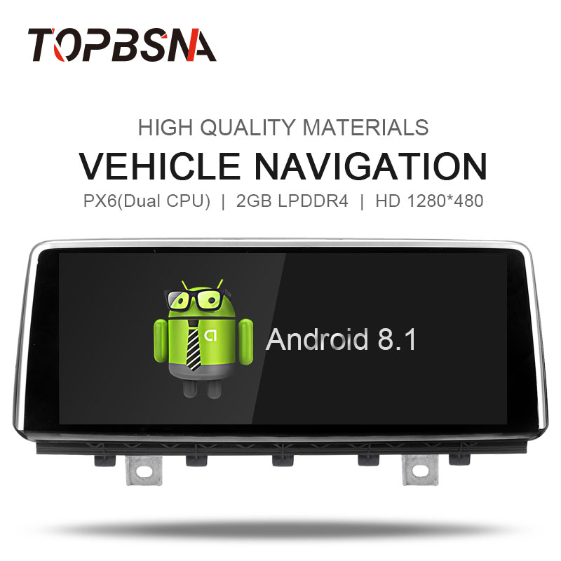 TOPBSNA PX6 Android 8.1 Car DVD For BMW X5 F15 2014-2017 Original NBT System player audio Multimedia Stereo FM headunit BT Radio