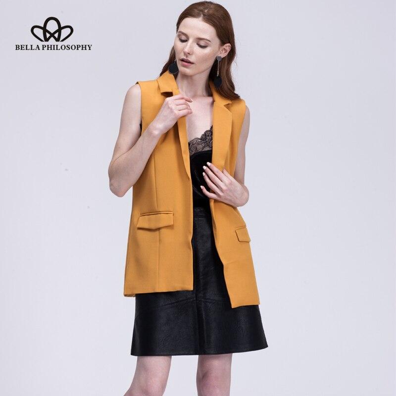 Bella Philosophie 2019 neue Mode Weste Frauen keine Taste schwarze - Damenbekleidung - Foto 5