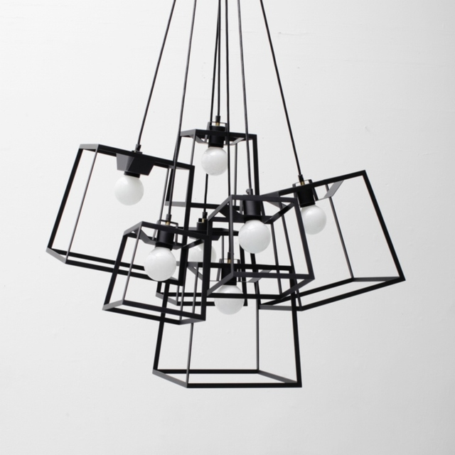 Aliexpress Com Buy Modern Cube Box Frame Pendant Light 1
