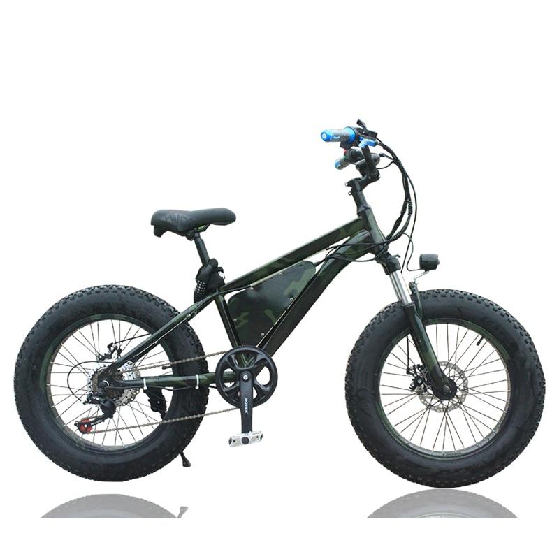 Vélo électrique 20 pouces lithium motoneige 36 V vélo amortisseur vitesse vélo durée de vie kilométrage 25-35 km prévenir neige glissante vélo