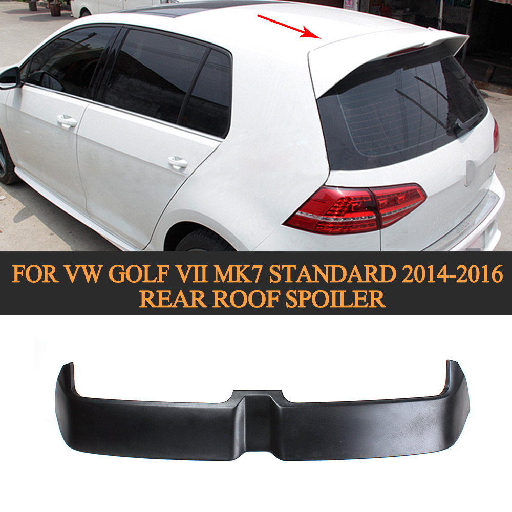 FRP BlackPrimer Rear Wing For VW Golf VII MK7 Standard 2014 2015 2016 Auto Racing Car Tail Trunk lid Boot lip Spoiler