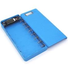 (No Battery) 8×18650 DIY 5V 2A Portable Battery Power Bank Shell Case Box LCD Display Dual USB 2 Ports Powerbank Box Powerbank