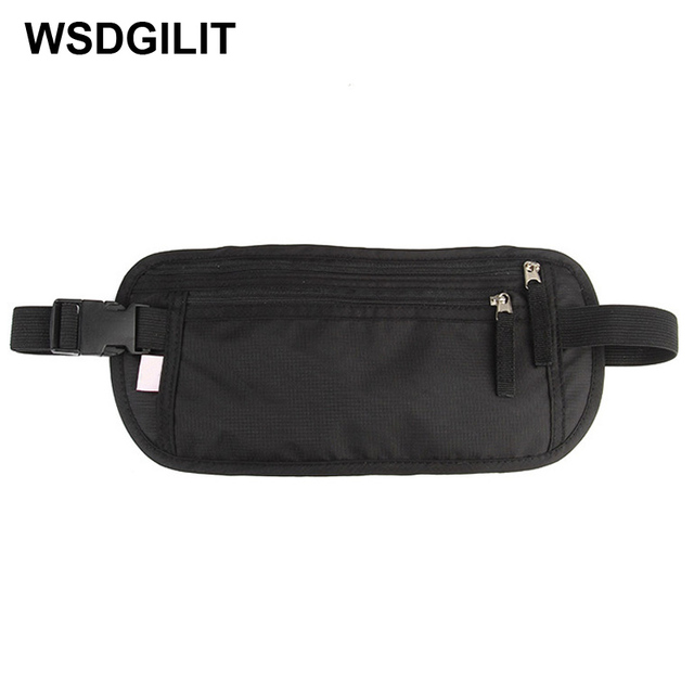 2f18a7695f Travel Waist Bag RFID Waterproof Fanny Pack Undercover Belt Bag Passport  Holder Secure Hidden Wallet Pouch