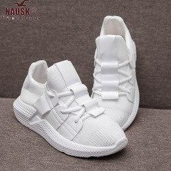 NAUSK/кроссовки; женская повседневная обувь на платформе; коллекция 2019 года; Модная Белая обувь; Zapatos De Mujer; кроссовки на платформе; Basket Femme