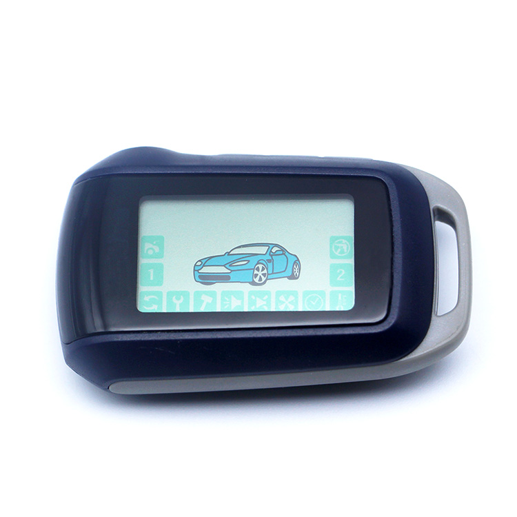 2-way LCD Remote Controller Key Fob Chain /Keychain Suitable for Two Way Car Alarm System