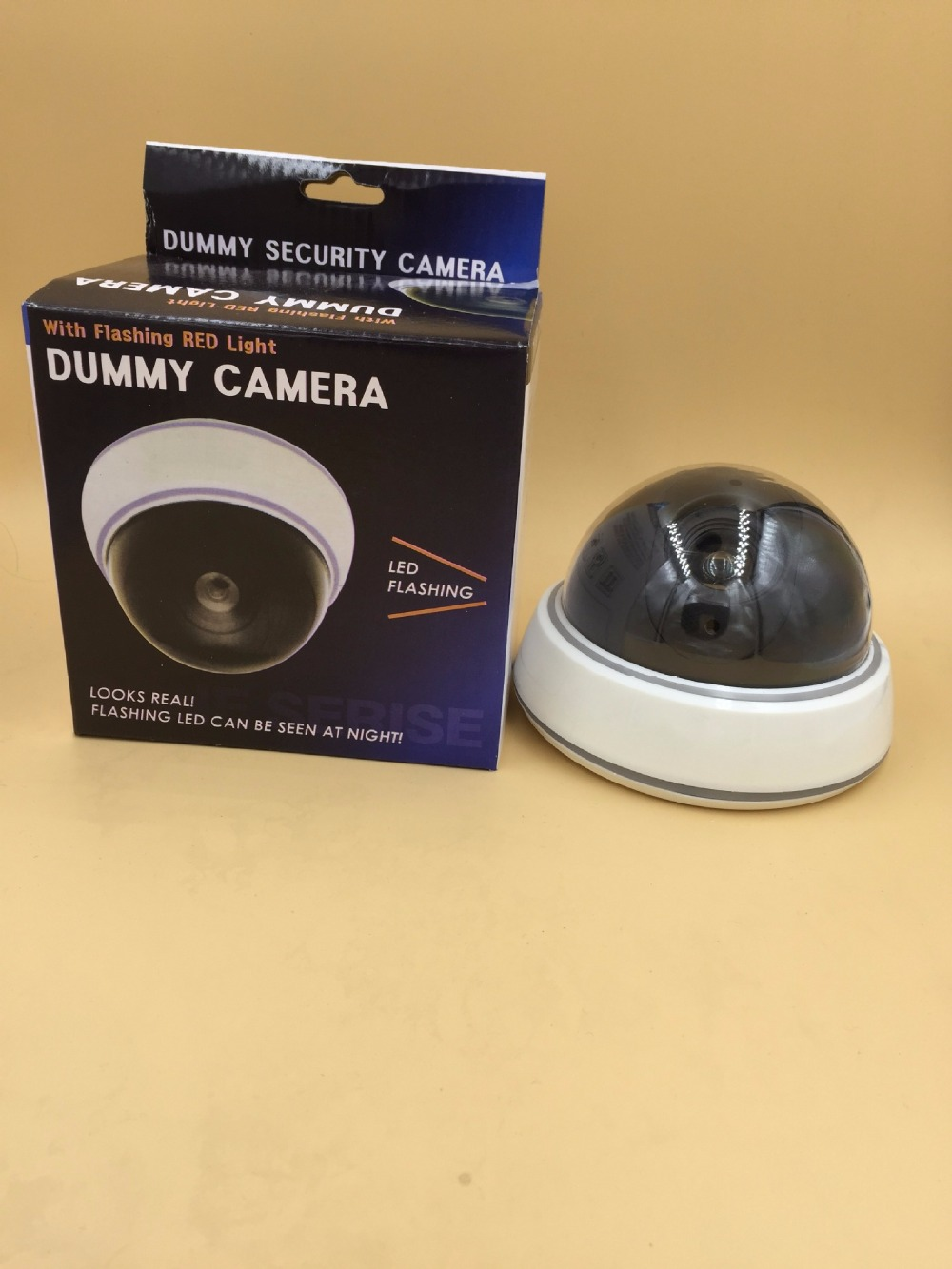 Fake Dummy Camera Security Camera with LED Flashing Lights for Property Security Use