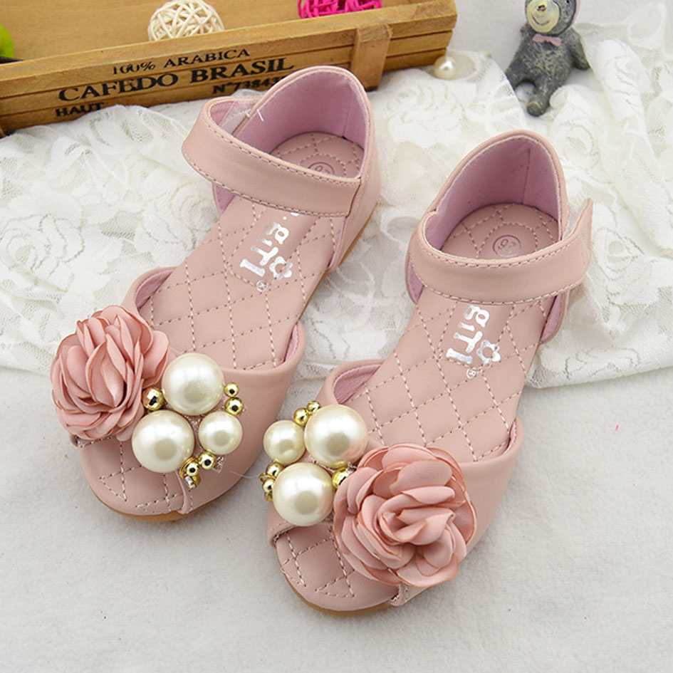 wedding flower girl shoes kitiin flower sandals 2017 summer princess 9504