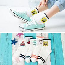 Women Socks Cotton Cartoon Character Cute Short Woman Harajuku Patterned Female Funny Ankle Casual Soft
