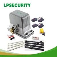Lpsafety раздвижное электрическое устройство для открывания ворот  1800 кг  автоматический дверной мотор  4 м стойки  1 инфракрасный фотоэлемент  1 ...