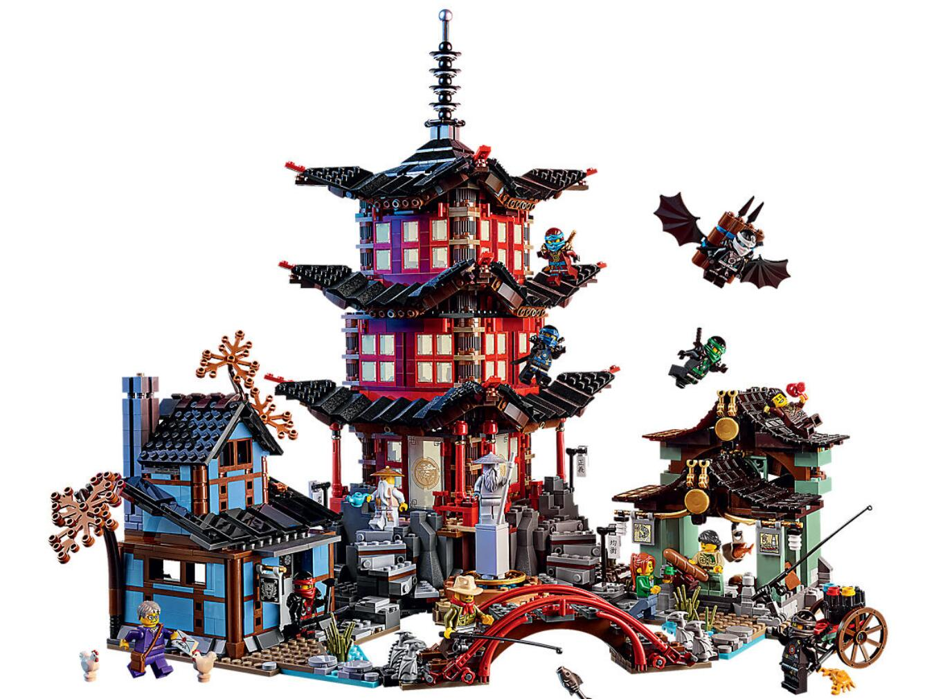 Bela 10427 Ninja Series 70751 Temple of Airjitzu 2051Pcs Building Blocks Toys Compatible With Legoings