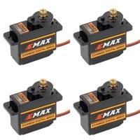 4 pces emax es08mdii es08md ii servo digital 12g/ 2.4kg/de alta velocidade mini engrenagem metálica Peças e Acessórios     -