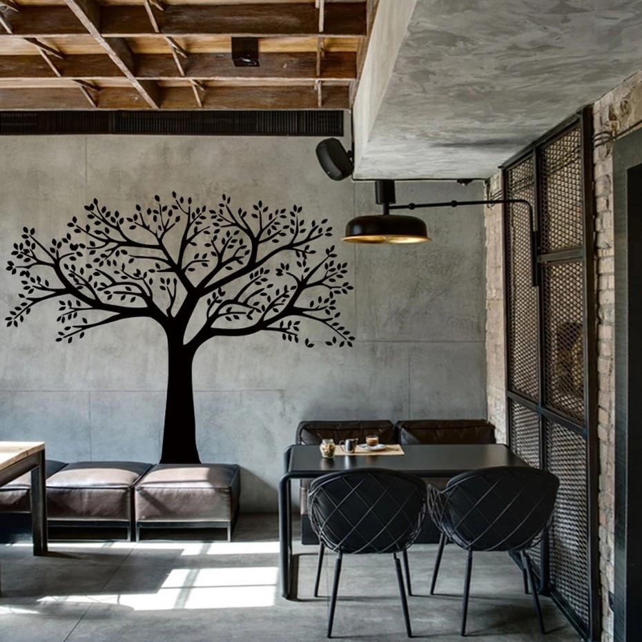 Fotografitë e mëdha familjare Pemë ngjitëse në mur vinyl Degët - Dekor në shtëpi - Foto 2