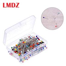 LMDZ100 50 sztuk kulki szklane głowy szpilki wielobarwne szpilki do szycia proste pikowania szpilki dla krawcowa biżuteria dekoracyjna szpilki tanie tanio CN (pochodzenie) Proste Szpilki Metal +Glass BY0236- BY0239 Dressmaking Quilting Pins Sewing Pins 100 50Pcs Push Pins 3 2m 1 18 (Approx )