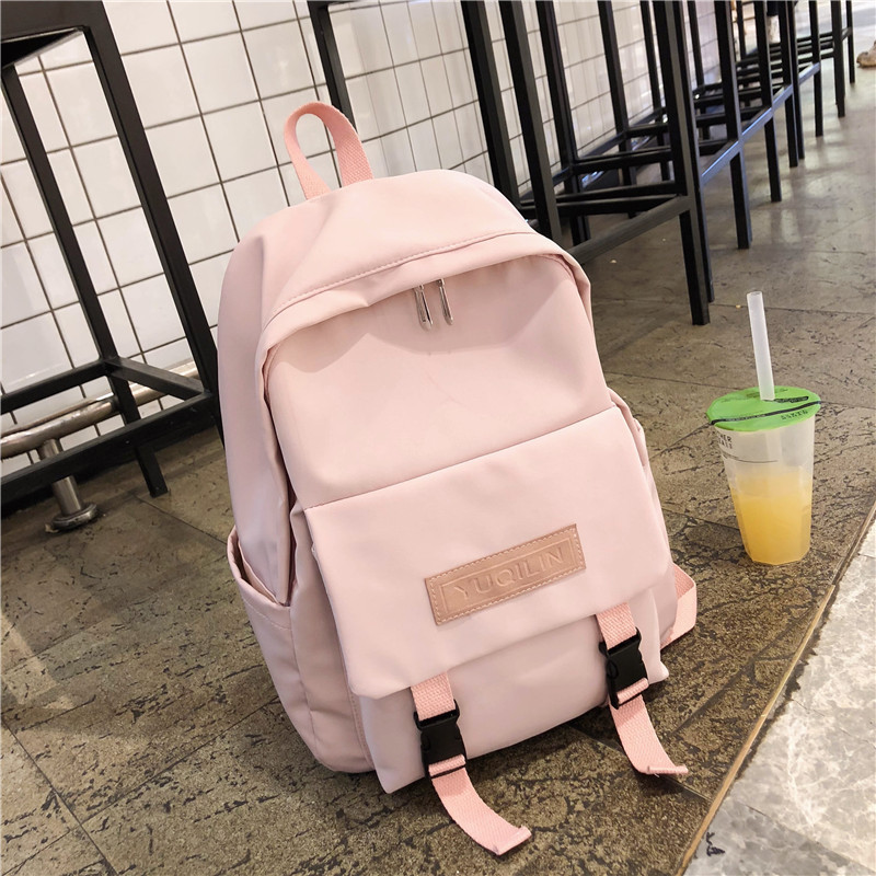 Nylon Waterproof Backpacks Women School Backpack For Teenage Girls Mochila Feminina 2019 Preppy Style High School Bag Pack Pink