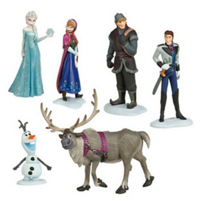 6 Pcs/set Baby Best Gift Anna Elsa Action Figures Toys Snow Queen PVC Model Anime Toy Hans Collection Gift children kids toys lps lps toy bag 20pcs pet shop animals cats kids children action figures pvc lps toy birthday gift 4 5cm