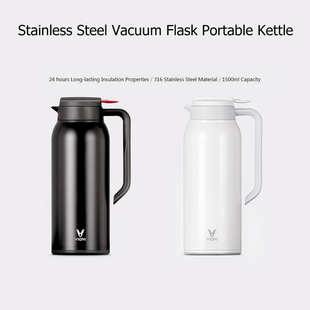 Xiaomi Mijia Thermos Cups 1.5L Stainless Steel Vacuum Thermos Bottle 24 Hours Flask Thermal Smart Insulation Water Kettle (7)