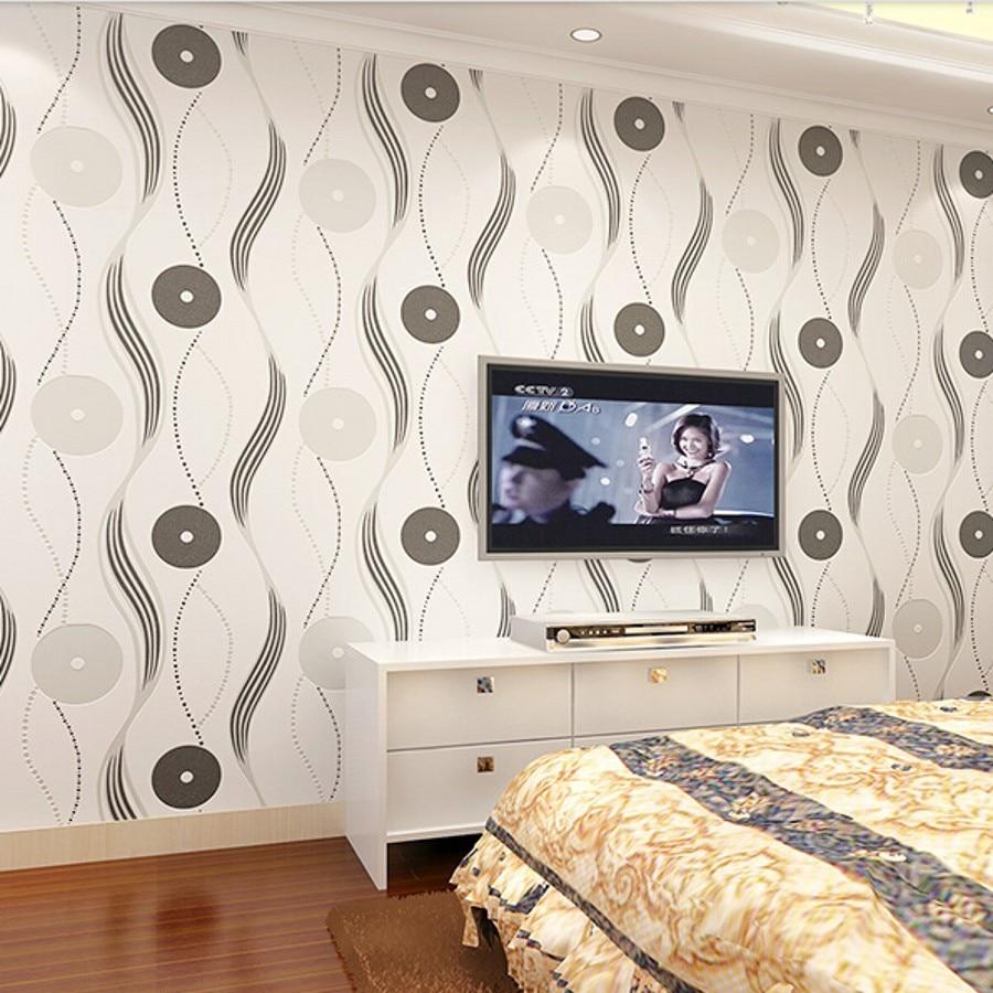 Large papel de parede decorative 3d wall panels murals wallpaper for - Beibehang Modern Style Fabric Fashion Wallpaper Wall Paper For Living Room Papel De Parede Listrado Papier