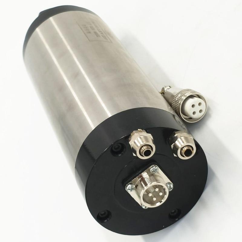 220v/110v 1.5KW spindle milling spindle 80mm/65mm ER11 /ER16 CNC air cooled spindle motor 4 Bearings 4pcs ceramic bearings 3kw 220v air cool spindle er20 cnc milling machine spindle motor