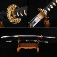 Japanese Samurai Sword 1060 High Carbon Steel Full Tang Blade Collecation Katana Funcational Real Sword Oil Quenched Very Sharp