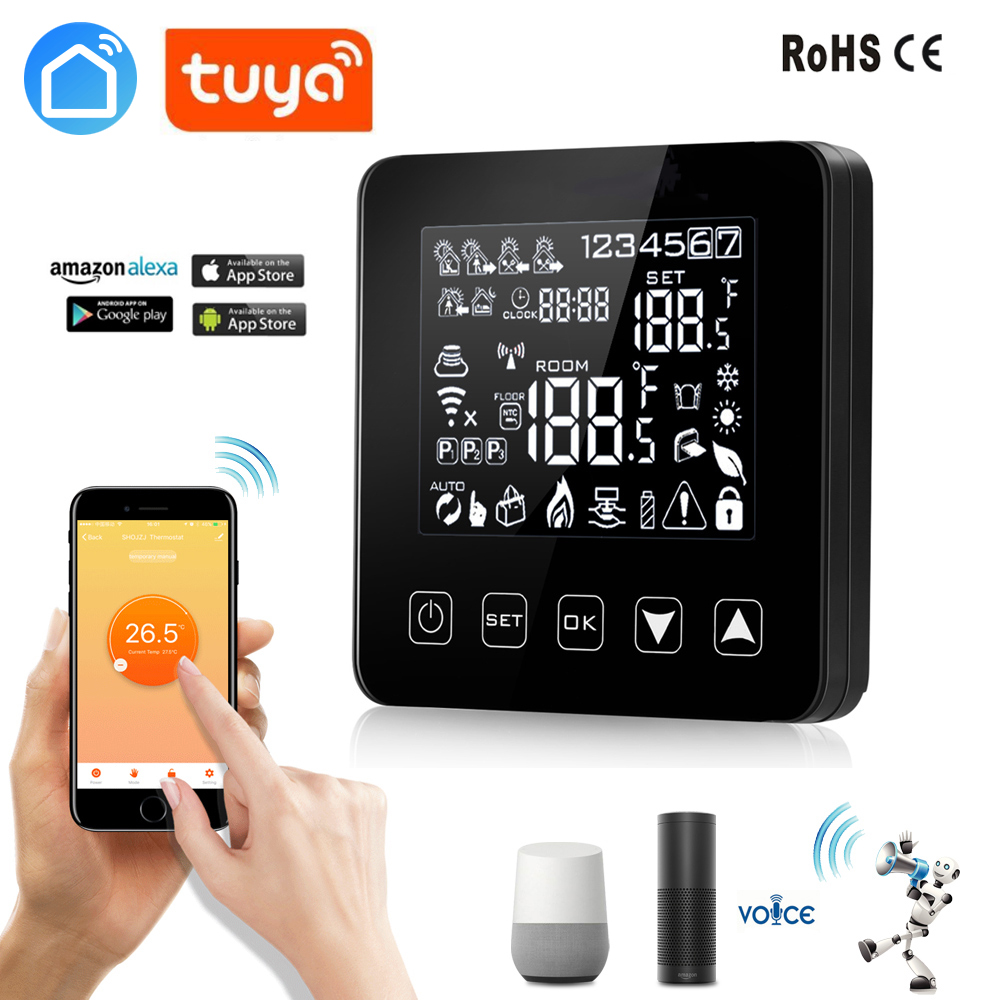 Tuya Smart Life 18NEW Alexa Google Home Thermostat WiFi Programmable APP Temperature Controller  For Electric Heating With 16A