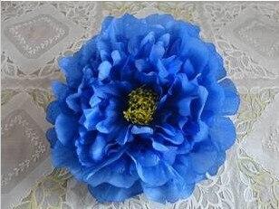 76 шт. искусственная ткань 12 слоев 16 см Открытый Пион цветок голова для Diy Ювелирные изделия Свадьба Рождество U выбрать цвет - Цвет: blue