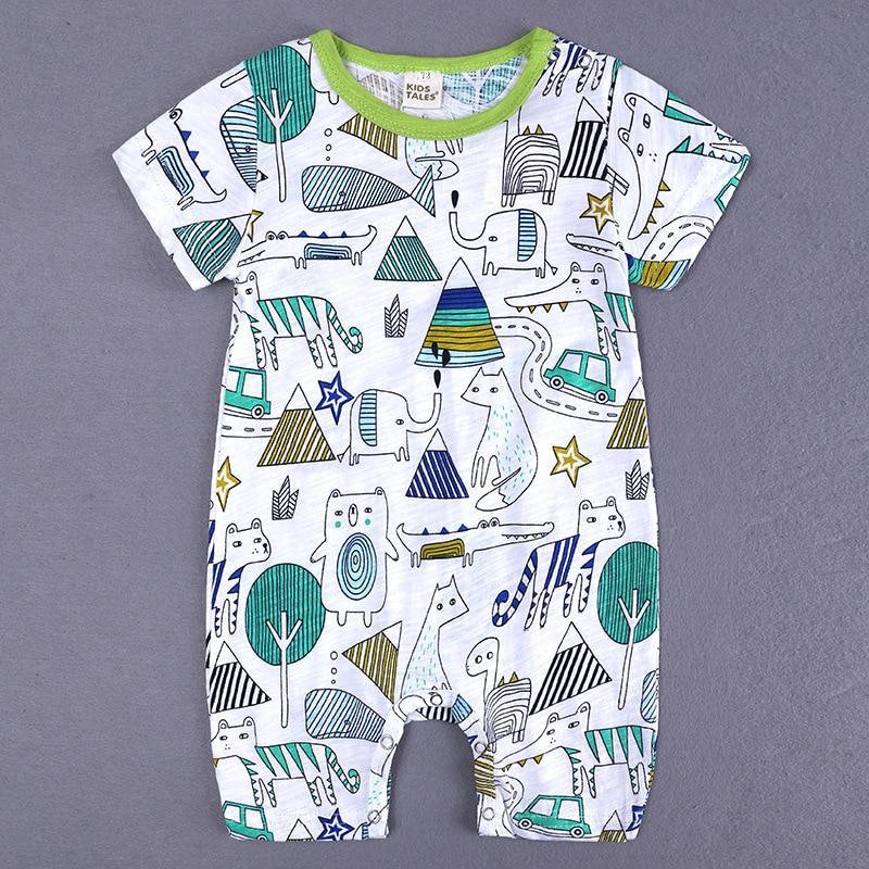 HTB145RzXUrrK1RkSne1q6ArVVXaq 2019 Cartoon Baby Onesies Summer Cotton Romper Boy Girls 0-24 Months Kids Clothes Knitted Cartoon Short-sleeved Jumpsuit Outfits