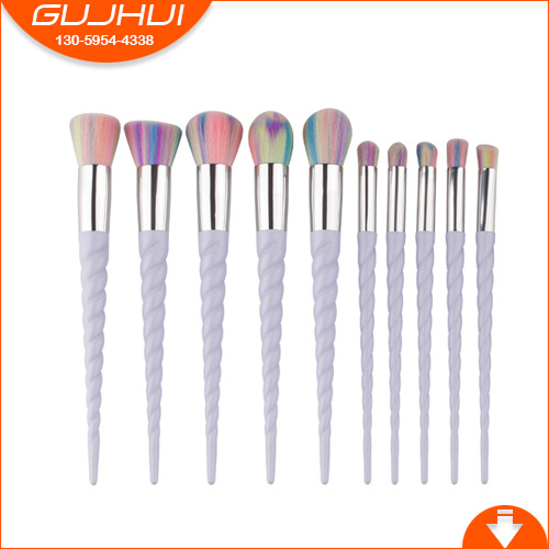 10 Unicorn Make-up Brush, Helix Horn Thread Suit and GUJHUI Rhyme тушь make up factory make up factory ma120lwhdr04