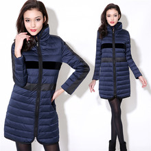 women's winter jacket 2016 casual rex rabbit hair thin medium-long down coat female classic shiny color block coat female