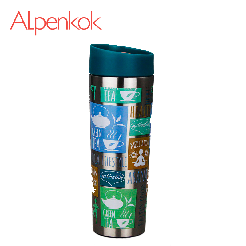 Alpenkok AK-04021A Hot cup 400ml Vacuum Flask Thermose Travel Sports Climb Thermal Pot Insulated Vacuum Bottle Stainless Steel ryder n1005 outdoor dual layer stainless steel abs water bottle red 600ml