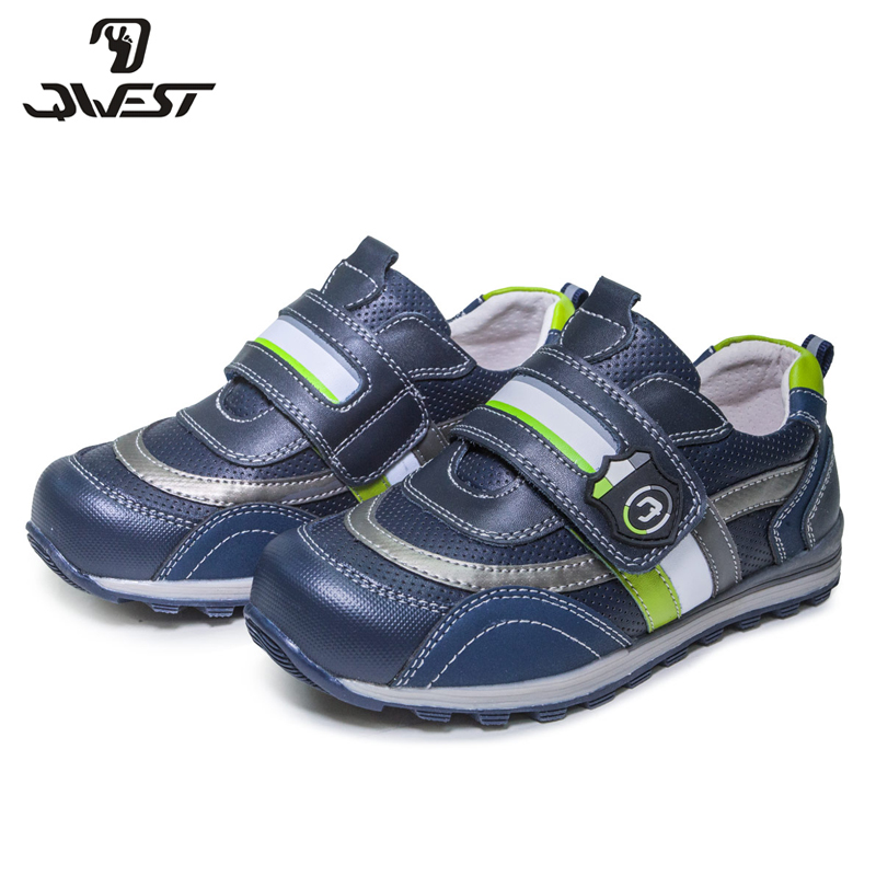 FLAMINGO Geometric Spring& Summer Breathable Hook& Loop Outdoor Walking Shoe For Boy Size 28-33 Free Shipping 81P-XY-0797